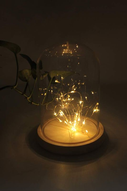 Wholesale Copper Wire LED String Light Glass Christmas Decoration Table Lamp